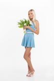 Beautiful young women with flowers. Stock Photography