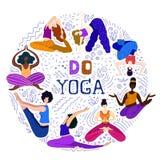 Yoga girls vector Set vector illustration