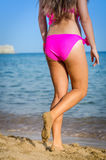 Beautiful young women goes swimming Royalty Free Stock Photography