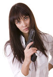 Beautiful young women with gun. Stock Photography