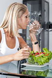 Beautiful young women with healthy habits Stock Photography
