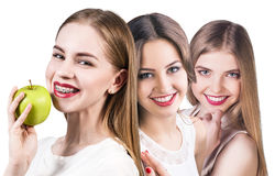 Beautiful young women with healthy smile Stock Image