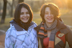 Beautiful young women laughing and having fun Royalty Free Stock Images