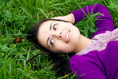 Beautiful young women in nature Royalty Free Stock Photo