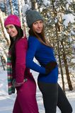 Beautiful young women outdoor in winter Stock Photography