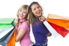 Beautiful young women shopping Royalty Free Stock Photo