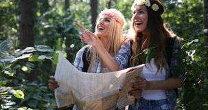 Beautiful young women spending time in nature Royalty Free Stock Photos