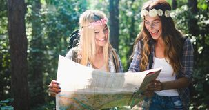 Beautiful young women spending time in nature Royalty Free Stock Images