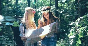 Beautiful young women spending time in nature Stock Photo