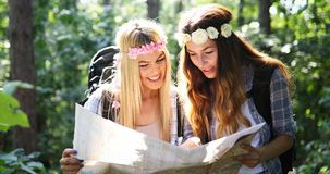 Beautiful young women spending time in nature Stock Photography