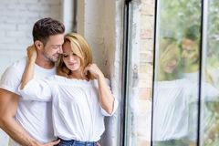 Young couple hugging Stock Photography