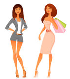 Beautiful young women in stylish fashion outfit Royalty Free Stock Photography