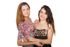 Beautiful young women and their friendship Royalty Free Stock Photos