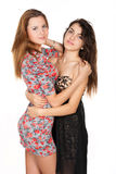 Beautiful young women and their friendship Royalty Free Stock Photo