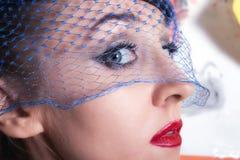 Beautiful young women in veils closeup Stock Image