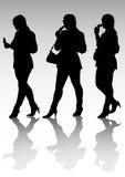 Beautiful young women walk Royalty Free Stock Image
