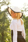 Beautiful young women  wearing hat Royalty Free Stock Images