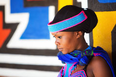 Beautiful Young Zulu Tribal Woman Royalty Free Stock Photography