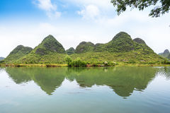 Beautiful yulong river landscape Royalty Free Stock Photos