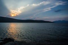 Beautiful Zastani beach at sunset, Evia, Greece Stock Image