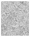 Beautiful zen floral pattern for coloring book Royalty Free Stock Image