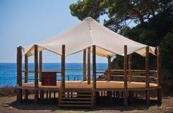 Beautiful zen pavillon in touristic resort of kabak, turkey Stock Images