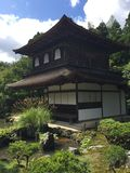 Zen temple at Ginkakuji Silver Pavilion stock photography