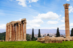 Beautiful Zeus temple in Athens, Greece Stock Photo