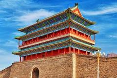 Beautiful Zhengyangmen Gate (Qianmen Gate ). This famous gate is Royalty Free Stock Image
