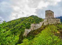 Beautiful Zil castle in city of Trabzon. Beautiful view to the Zil castle in city of Trabzon in Turkey stock photos