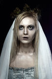 Beautiful zombie corpse bride Stock Images