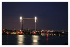 The beautiful Zwijndrecht bridge stock photo