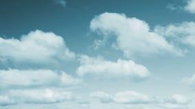 Beautifule Cyan Toned Sky and Clouds Loop stock video footage
