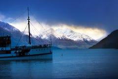 Beautifulf scenico del wakatipu del lago la maggior parte del destin di viaggio popolare Fotografie Stock Libere da Diritti