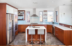 BeautifulKitchen in Luxury Home Stock Images