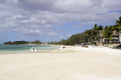 Beautifull beach on Mauritius Stock Images