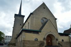 Beautifull brown church in limburg in The Netherlands Royalty Free Stock Photography