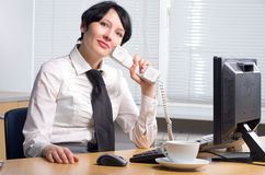 Beautifull businesswoman Stock Photo