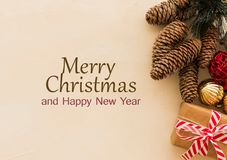 Beautifull christmas in frame stock illustration