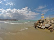 Beautifull coast of Crete. Gouves Royalty Free Stock Image