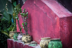 A beautifull colourfull pot at jogja yogyakarta indonesia. Java Royalty Free Stock Image