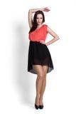 beautifull czerń spódnicy kobieta Zdjęcia Royalty Free