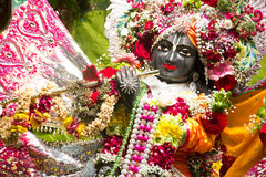 A beautifull decorated lord krishna in Toronto Iscon temple located in downtown Toronto, Canada Stock Photo