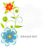 Beautifull decorative flower background Stock Photos