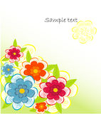 Beautifull decorative flower background Royalty Free Stock Image