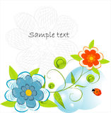Beautifull decorative flower background Royalty Free Stock Photos