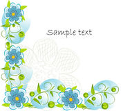 Beautifull decorative flower background Stock Images