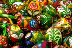 Beautifull easter eggs. Traditonally painted form russia Royalty Free Stock Photos