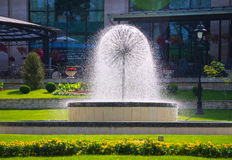 A beautifull fountain with flowing watter Royalty Free Stock Photography