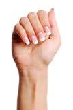 Beautifull Frauenhand. Stockbild